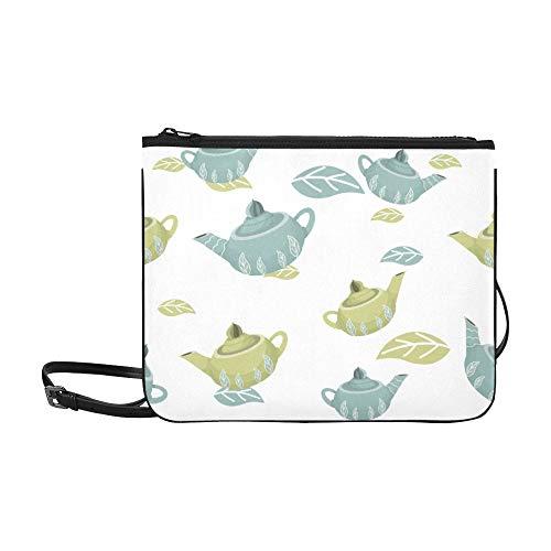 Canvas Tote Shoulder Bag Creative Retro Home Kitchen Teapot Adjustable Shoulder Strap Book Bag Cross Body For Women Girls Ladies Handbag Cover Shoulder Bag Clutch