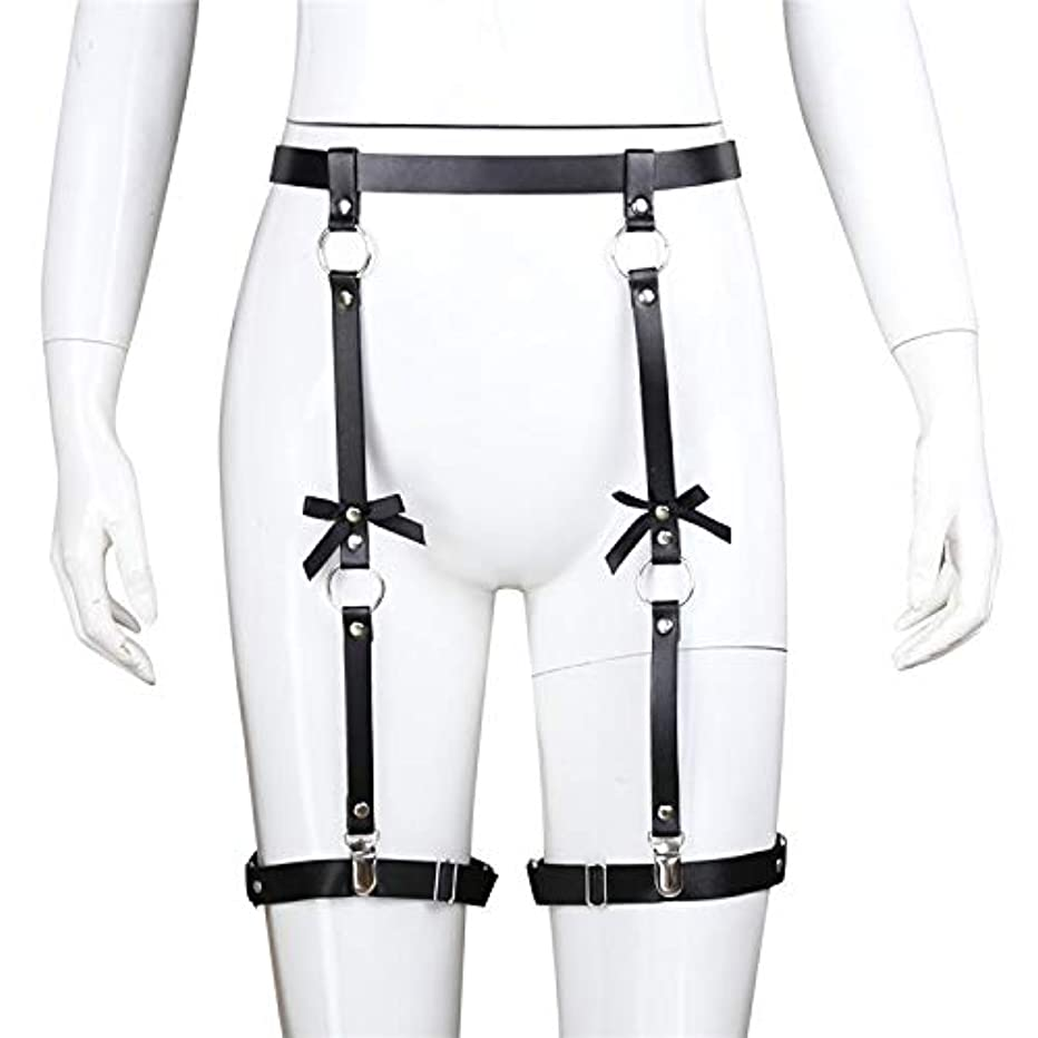 Women s/Mens Elastic Leather Body Harness Leg Straps