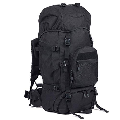 sac à dos randonnée 60 + 10L sac d'alpinisme hommes et les femmes de sac de grande capacité Sacs à dos de randonnée ( Couleur : Noir , taille : 60+10L )