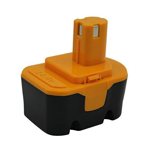 Kinon Batería de repuesto para herramientas eléctricas 14,4 V 3,0 Ah Ni-Mh para destornillador taladro inalámbrico Ryobi 130224010 130224011 130281002 1314702 1400655 1400671 130224017 HP1441 RY6201