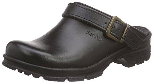 Sanita Workwear San-Duty Open-OB, Unisex-Erwachsene Clogs, Schwarz (Black 2), 43 EU