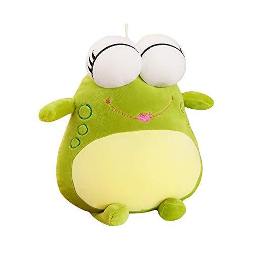 HJHJK Netter Ausdruck Frosch Plüschtier Weicher Cartoon Tierfrosch Gefüllte Puppe Schlafsofa Kissen Kissen Haushaltsgegenstände Kinder (Size : 60cm)