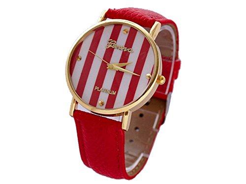 Geneva Geneva Platinum Bande - Reloj Color Rojo