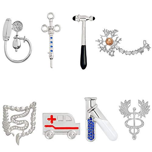jiao Pin médico de Metal Insignia del médico Tubo de ensayo Martillo...