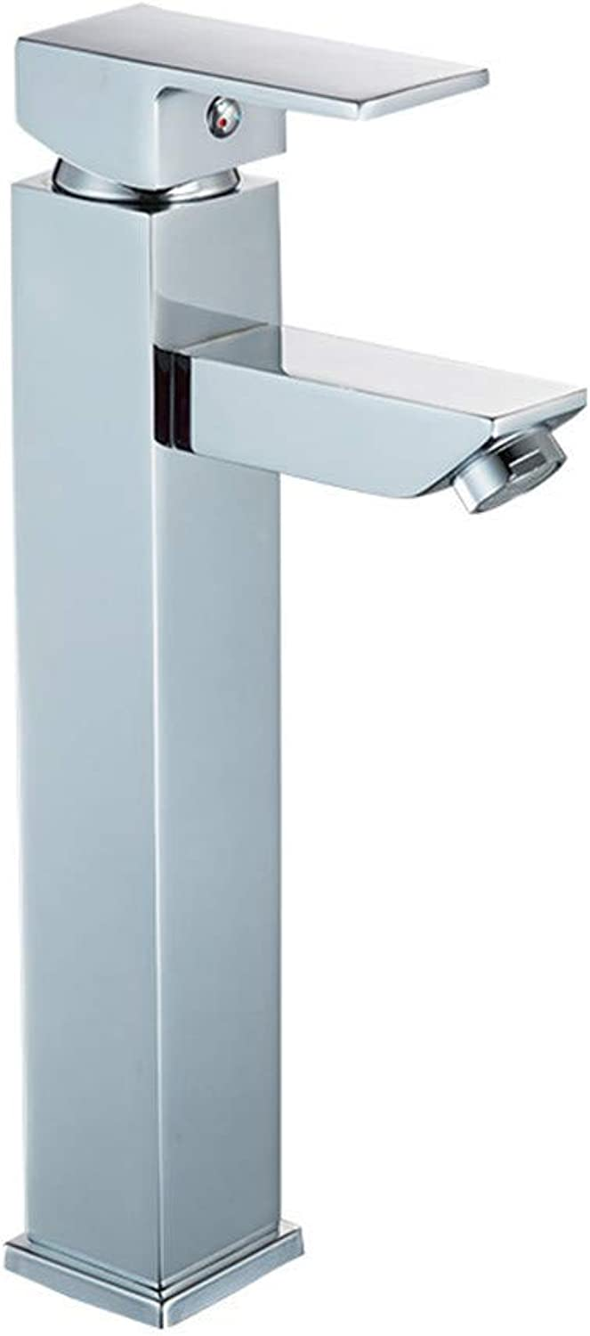Household basin faucet copper hot and cold mixing faucet chrome single hole washbasin faucet