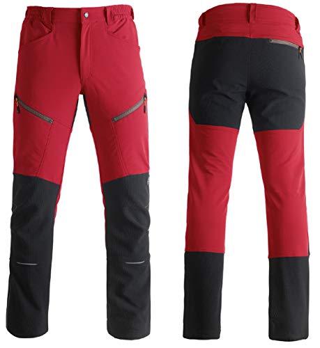 KAPRIOL Pantalon elastizado Ideal para Actividades Que requieren Niveles máximos prácticos y de Confort. Talla XL, Rojo