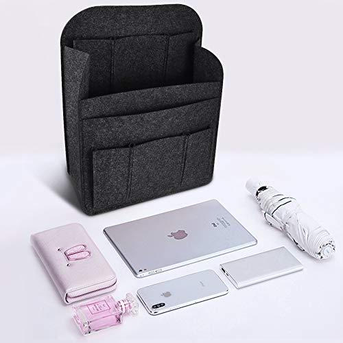 NewseegoバッグインバッグリュックインナーバッグフェルトA4B4B5縦化粧ポーチ縦型自立iPad小物収納ポーチ防水軽量大きい収納バッグ旅行通勤小物整理軽量大容量レディースメンズ(ブラック)