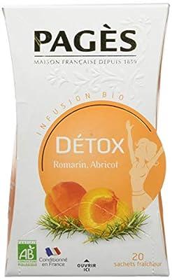 PAGÈS Infusion Detox Romarin/Abricot Bio 20 Sachets 30 g parent