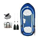 Bewinch Kayak Hinchable 2+1 Asientos,Bote Piragua Hinchable Equipado con Bomba De Pie Inflable/Paleta/Bolsa De Tela Wufang La Capacidad De Carga Es De 255 Kg