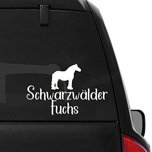 Pegatina Promotion Pferde Silhouette Typ2 ca 30 mit Schriftzug Schwarzwälder Fuchs reiten Reitsport Aufkleber Sticker Profi Qualität