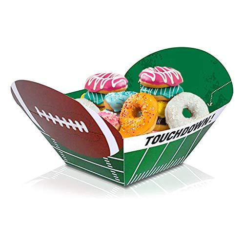 Artvans TazóN De Papel para Comida con Tema De Deportes De Rugby Vasos De Papel Desechables para Refrigerios, Ideales para Cenas Familiares Y Eventos Deportivos (Verde)