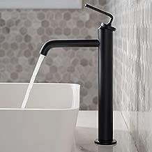 Kraus KVF-1220MB Ramus Single Handle Vessel Sink Bathroom Faucet with Pop-Up Drain, Matte Black