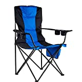 Loisirs de plein air chaise de pêche en tissu Oxford chaise de camping pliante portable (61 * 61 * 110cm)-blue