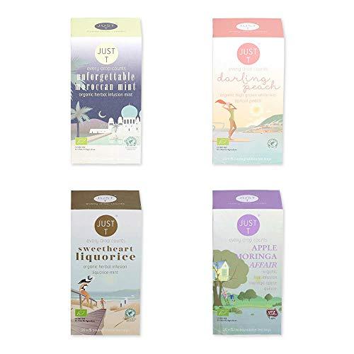 Just T Bio Tee Set Magical Moments mit Organischem Tee Auswahl - Klassiker treffen Superfood (Teebeutel (4 x 20))