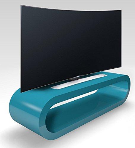 Zespoke Cerceau de Style Rétro Grande Sarcelle Haute Brillance Meuble TV/Armoire 110cm