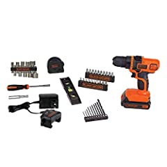"44 piece kit for your household project needs Drill and accessory set with over $95 Value 20V MAX* Lithium Ion Battery holds charge up to 18 Months Chuck Size: 3/8""; Included Components: (1) LDX120 Drill/Driver, (1) 20V MAX* 1.5Ah Battery, (1) Charge..."