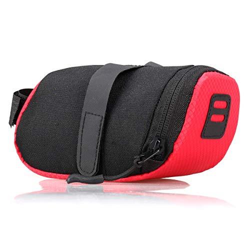 Bolsa de cola de bicicleta Bolsa de asiento de sillín impermeable para bicicleta de carretera Bolsa de almacenamiento de bolsa trasera de cola de ciclismo - Rojo