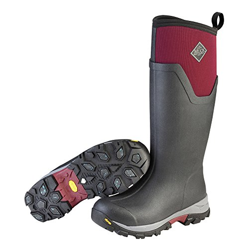 Muck Boot womens Women's Arctic Ice Tall Work Boot, Black/Windsor Wine, 5 US