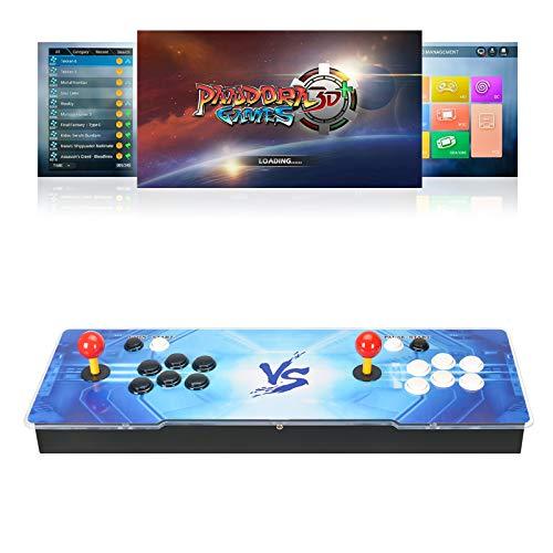 TAPDRA 8000 Juegos en 1 Consola Pandora Arcade Máquina WiFi 3D con Market Incorporado 10000+ Juegos para descargar, Soporte para 4 Jugadores