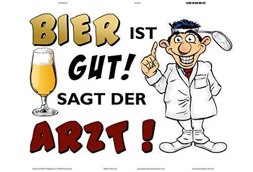Bier Ist Gut Saagt Der arts metalen bord, metalen bord, gebogen, tin metaal, 20 x 30 cm