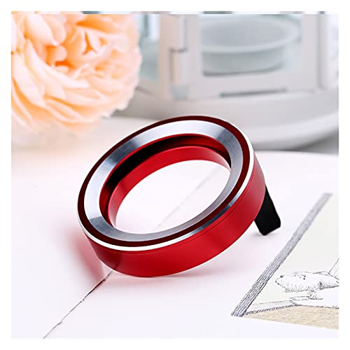 SHENYUMING 1 unids Donut Design Coche Perfume Recarga Aleación Aleación Aleación Metal Air ACEN ACEN DIFUSION AUTOMO Auto DIFUSOR DE Ventilador DE Ventilador (Color Name : Red)