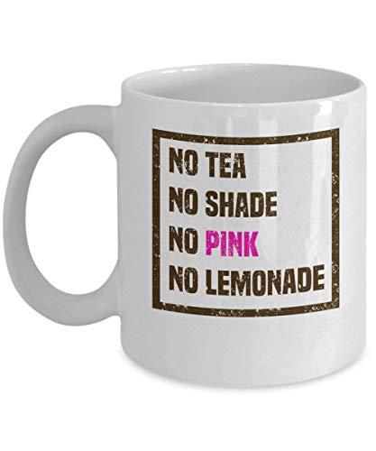WYYCLD Gay Coffee Cups - No Tea Shade Pink Lemonade - Gifts for LGBT - 11 oz Ceramic Mug