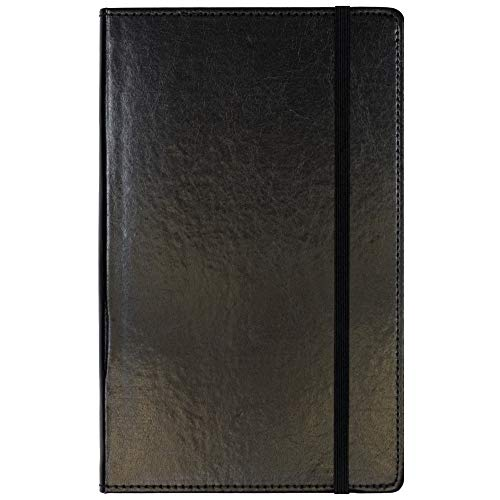 C.R. Gibson Black Bonded Leather Journal, 5'' x 8.2''