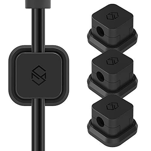Sinjimoru ケーブルホルダー、iphone type c USBケーブル マグネット収納ボックス 車内 ケーブル 固定 収納 クリップ コード まとめる 整理 クリップ。Magnetic Cable Holder、Black 3PCS