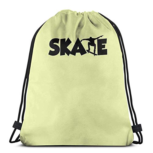 Rucksack Kordelzug Taschen Cinch Sack String Bag Skateboard Sport Figur Sackpack für Beach Sport Gym Reise Yoga Camping Shopping Schule Wandern Männer Frauen