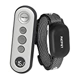 PATPET Dog Training Collar with 3 Safe Training Modes, Rechargeable IPX7 Waterproof Shock Collars for Dogs with Remote, 3000Ft Control Perfect for Small Dogs (8-120 lbs) - Bark Collar with Remote