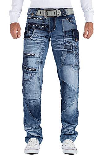 Kosmo Lupo Herren Jeans KM001 Blau W34/L34