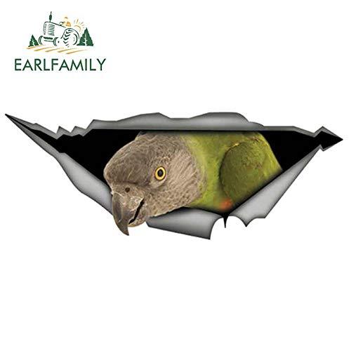 A/X Sticker de Carro 13 cm 4,9 cm 3D Senegal Parrot Coche Pegatina Rasgada Metal calcomanía Reflectante decoración de Coche Pegatinas de Parachoques de Vinilo