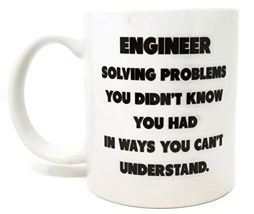 Funny Mug - Engineer. Solving problems - 11 OZ Coffee Mugs - Funny Inspirational and sarcasm - By
