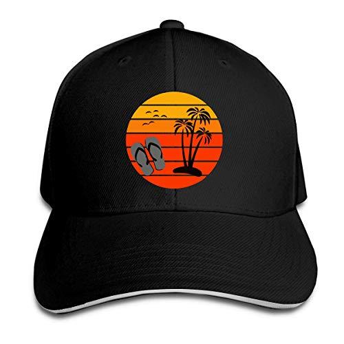 ZhangLinFu Herren Sommer Spaß mit Flip Flops Golf Hut Baseball Cap