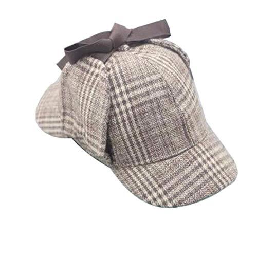 Unisex Cosplay Cap Detektiv Sherlock Deerstalker New Berets Cap Detektiv Kostüm für Männer und Frauen
