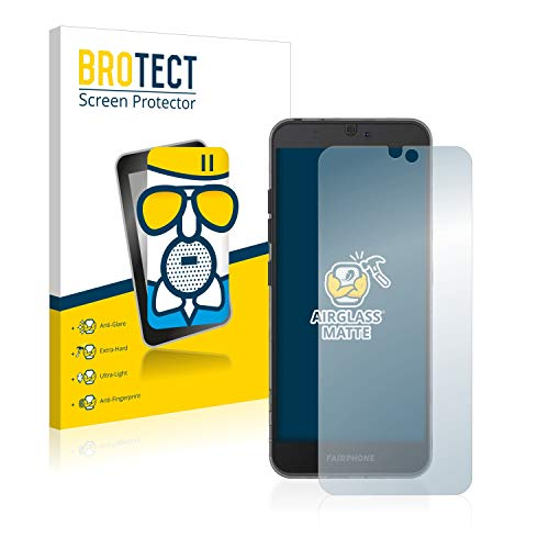 BROTECT Entspiegelungs-Panzerglasfolie kompatibel mit Fairphone 3 - Anti-Reflex Panzerglas Schutz-Folie Matt