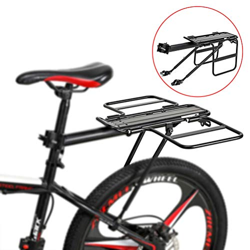 Mountain bike luggage racks, racing bike rear frames Adjustable racks Bicycle luggage rack maximum load 75 kg, aluminum alloy, quick assembly
