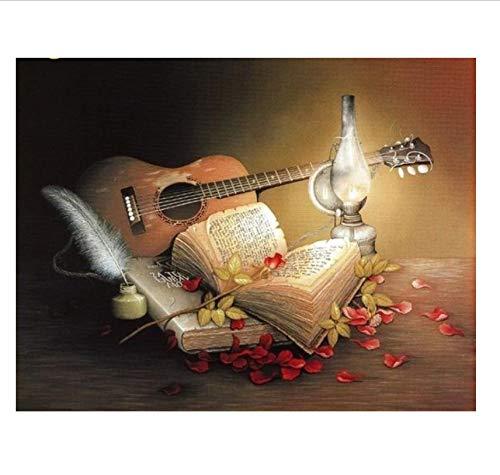 Puzzle Puzzle 1000 Stück Gitarre Kerzenbuch Erwachsene Freizeit Unterhaltung Kinder Lernspielzeug Weihnachtsdekoration