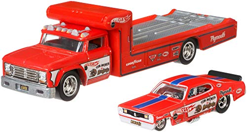 Hot Wheels Plymouth Duster Funny car + Retro Rig Team Transport 1:64