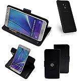K-S-Trade® Case Schutz Hülle Für UMIDIGI C2 Handyhülle Flipcase Smartphone Cover Handy Schutz Tasche Bookstyle Walletcase Schwarz (1x)