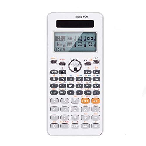 Grafische rekenmachine, wetenschappelijke studie, rekenmachine, hybride batterijvoeding, 12 cijfers, groot LCD-display, draagbare toetsen, computer, desktop en basisrekenmachine