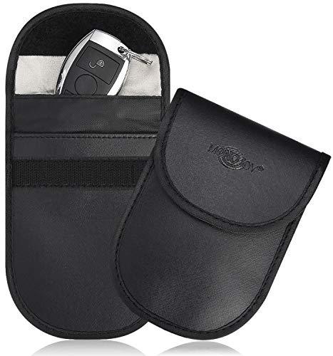 Car Key Signal Blocker Case Black 2 Pack Faraday Bag for Car Key Anti-theft Faraday Cage Keyless Entry Key Fob Pouch RFID//NFC Blocking