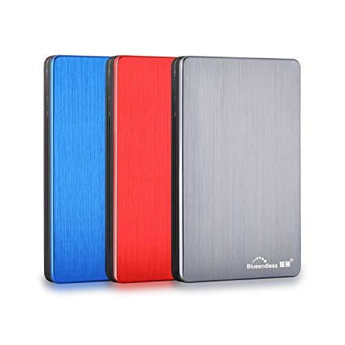 Blueendless Disco duro externo portátil USB 3.0 de 2.5 pulgadas para PC, portátil, computadora (500 GB, azul) miniatura