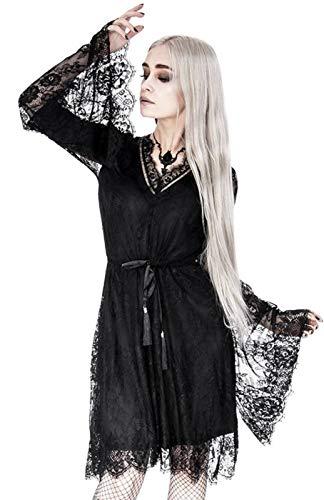 Restyle Kurzes Kleid -XS- Gothic Eyelash Lace Schwarz