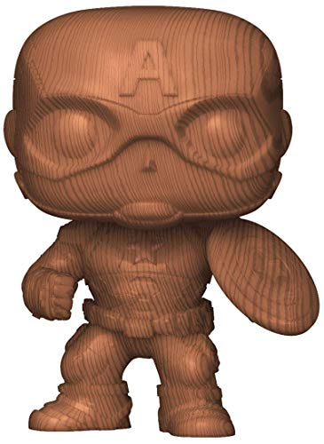 Pop Vinyl Captain America Wood Deco Figure - Entertainment Earth Exclusive
