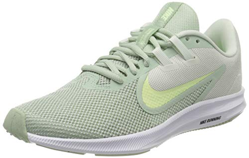 Nike Wmns Downshifter 9, Zapatillas para Correr para Mujer, Pistachio Frost Barely Volt Spruce Aura, 36.5 EU