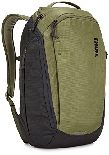 Thule EnRoute 23L Zaino in Nylon e Poliestere, per Laptop da 15,6' e un Tablet da 10', Verde oliva/sabbia