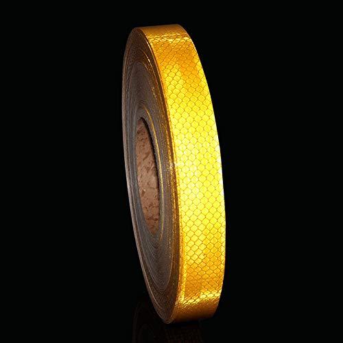 JULXYX Reflexstreifen 1X10 \'Diamond Grade Weiß Rot Gelb Reflektierendes Sicherheitsband Fahrradhelm Aufkleber Fluoreszierendes Gelbes Helmband 3M