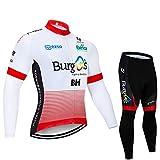 Jerseys de Ciclismo de Invierno para Hombre de Manga Larga Pro, Racing Club Fleet Outdoor Road Bike Anti-UV MTB Trajes de Ciclismo, Ropa Deportiva de Ciclo clásico (Size : XXX-Large)