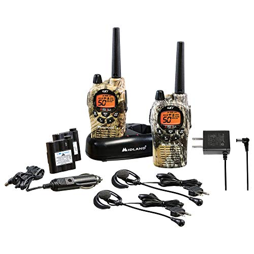 Midland GXT1050VP4 50 Channel GMRS Two-Way Radio - Up to 36 Mile Range Walkie Talkie - Mossy Oak Camo (Pair Pack)
